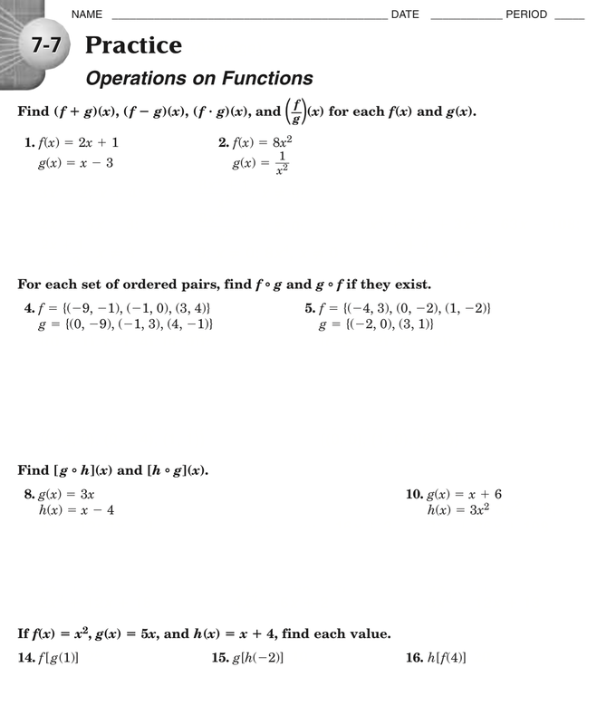 9 2 Skills Practice Solving Quadratic Equations By Graphing – Algebra 1 Practice Worksheets with Answers
