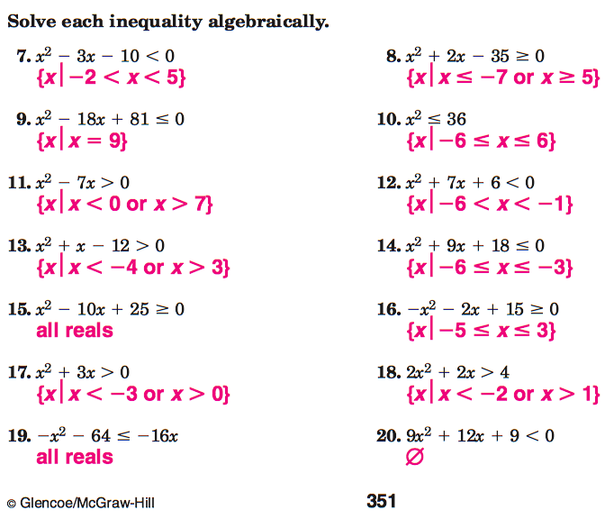 ... 13 marilyn s class problems 1 3 on worksheet page 351 and 1 3 on
