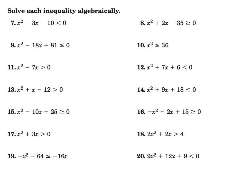 ALGEBRA 2 Homework – Algebra 2 Worksheet Answers